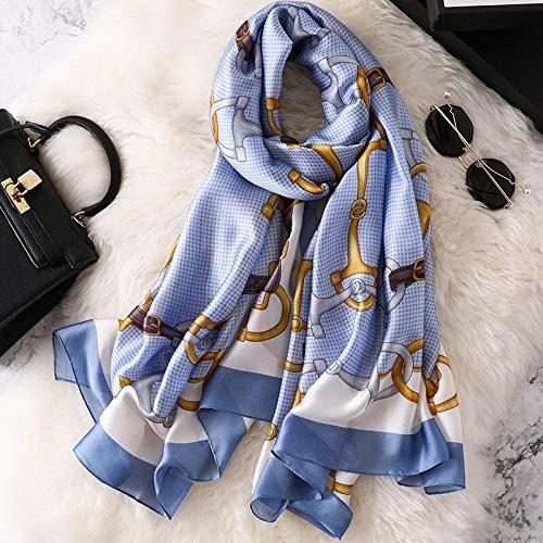 Vcnhln Mantón de algodón y Lino para Mujer, Protector Solar, Toalla de Playa, Estampado Suave, pañuelo para la Cabeza, Bufanda para Mujer, Poncho, Talla única