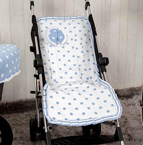 Babyline Carrusel - Colchoneta ligera para silla de paseo, color azul