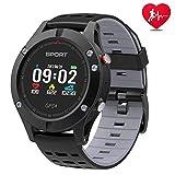 Smart Watch, Sportuhr mit Höhenmesser/Barometer/Thermometer und eingebautem GPS, IP 67 Waterproof...