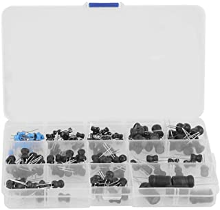 145Pcs Inductors 10uH-10mH 12 Values Choke Inductors Assorted Kit Electronic-inductors with Special Guide Pin Structure, S...