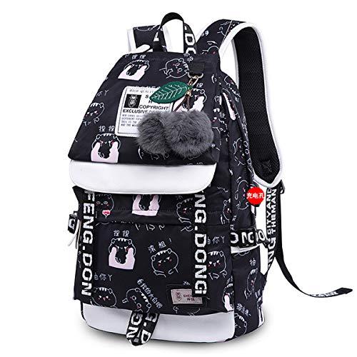 Asge Damen Mode Schultasche Kawaii Druck Rucksack Mädchen Lässig Wasserdicht Backpack Schule Teenager Daypack