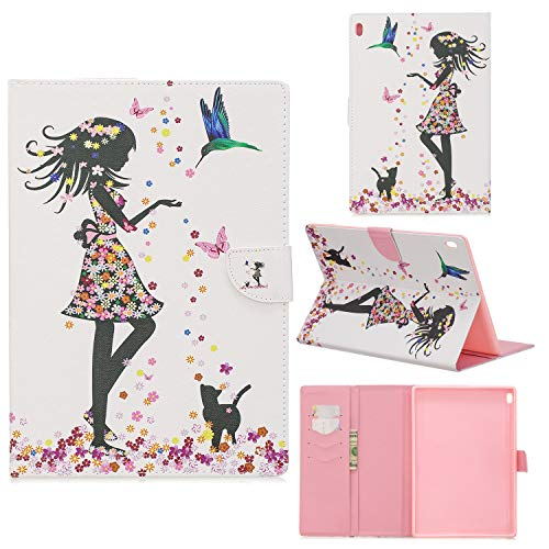 Case for Lenovo Tab4 10/Tab4 10 Plus Ultra Lightweight Slim PU Leather Protective Case with Card Slot and Magnetic Cover for Lenovo Tab4 10/Tab4 10 Plus 10.1 Inch Tablet PC,5#Girl