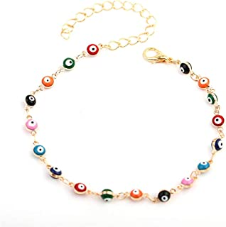 Anklet for Girls Fashion Jewelry Simple Flower Seven...