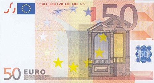 Litfax GmbH 50€ Euroschein / Euro-Geldscheine ca. 180x97 mm / banderoliert, je Pack. 75 Stück