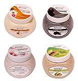 PINK PLUMS Papaya Face Pack | Skin-Whitening Scrub | Charcoal Massage Cream |