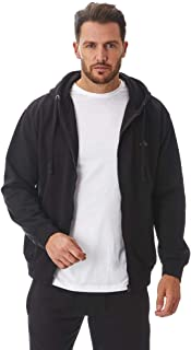 Iron Mountain Mens Soft Fleece Full Zip-Up Hooded Hoodie, Reclaimed Yarn Eco Friendly Top