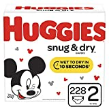 Huggies Snug & Dry Diapers, Size 2 (12-18 lb.), 228 Count, One Month Supply (Packaging May Vary)