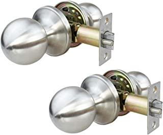 NUZAMAS - Juego de 2 cerraduras de puerta de acero