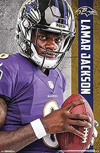 Lamar Jackson - Baltimore Ravens - QB - Poster - 22 in x 34 in