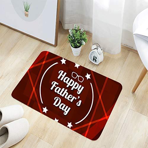 Scrolor TAPPETI per Salotto Decorazione Porta VATORE Tag Lettera Stampa Bagno tappeti per Bagno Anti Slip, Flanella, Mehrfarbig D, 40 x 60 cm