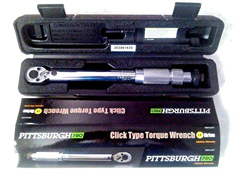 1 Pc of Pittsburgh Pro 1/4 in. Drive Reversible Click Type Torque Wrench,...
