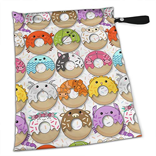 Liusgit Best Donuts Cat Duckin Art Purple White Collection Duffle Gym Bag Shoe Compartment and Wet Pocket Waterproof Gear Bikini Tote Dry Beach Swimming Camping Kayak Workout Clothes Weather