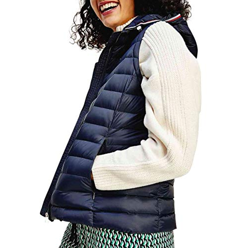 Tommy Hilfiger Damen TH ESS LW DOWN Vest Fleece-Weste, blau, Small
