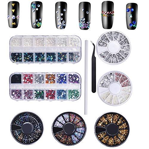 Biutee Brillantes Uñas Pedreria para Uñas Decoración Lápiz para Cristales