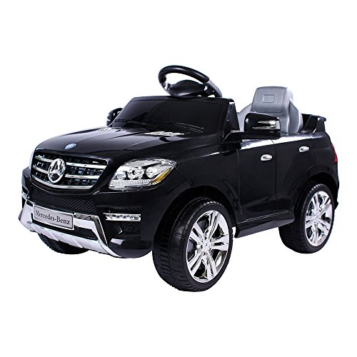 moleo Mercedes-Benz ML Kinderauto met 2 motoren MP3 afstandsbediening zwart