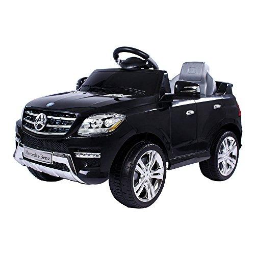 moleo Mercedes-Benz ML Kinder Auto Elektroauto Kinderauto Elektrofahrzeug Kinderfahrzeug mit 2 Motoren MP3 Fernbedienung. Farbe: Schwarz