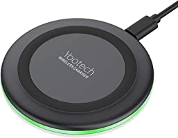 Yootech Wireless Charger Qi-Certified 7.5W Wireless Charging Compatible with iPhone Xs MAX/XR/XS/X/8/8 Plus,10W...
