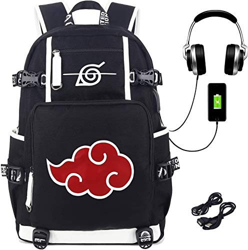 Siawasey Anime fan,Anime gift,cosplay gifts,Anime Naruto Backpack DRYHY-45634 School Bag Print Laptop Backpack with USB Charging Port & Headphone Port