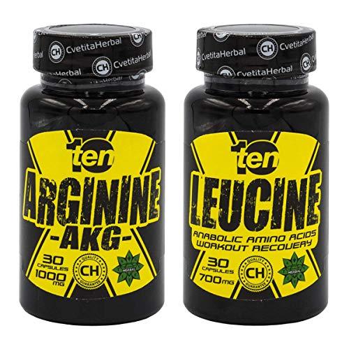 Tien voedingsaminozuren Bundel, Leucine aminozuur + Arginine AKG, Building Muscle, Providing Energy, Verbeter de sterkte tijdens de oefening, Spierherstel, Werkt als een antioxidant, Verminder de vetmassa