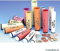 Monetique L1000TPMIX Lot de 8 Cartons de 1000 tubes papier pour pi/èces euro