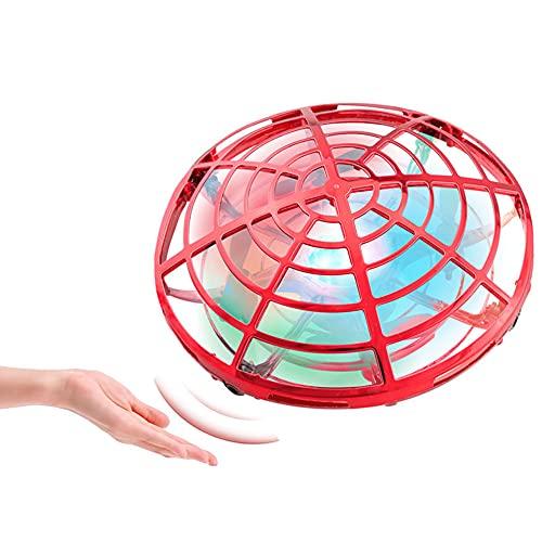 WZRYBHSD Vliegende Bal Drone Speelgoed Voor Jongens Kinderen Volwassenen, 360 ° Roterende Vliegende Boemerang Spinner Met Kleurrijke Lichten Handen Gecontroleerde Ufo Drone Interactief Speelgoed Voor