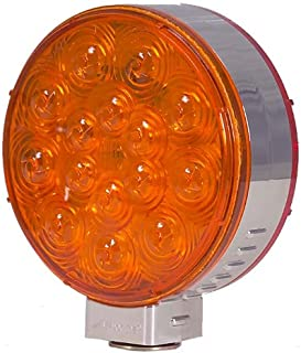 Maxxima M42341R/Y 30 LED Red/Amber Double Face Chrome Round Pedestal Light
