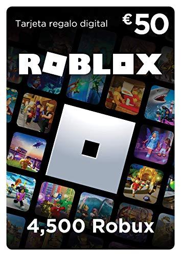 Tarjeta regalo de Roblox - 4,500 Robux [ordenador, móvil, tableta, Xbox One, Oculus Rift...