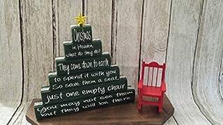 Christmas in Heaven, Christmas in Heaven Poem, Christmas display, Christmas in Heaven display, Christmas in Heaven with chair, Xmas Blocks