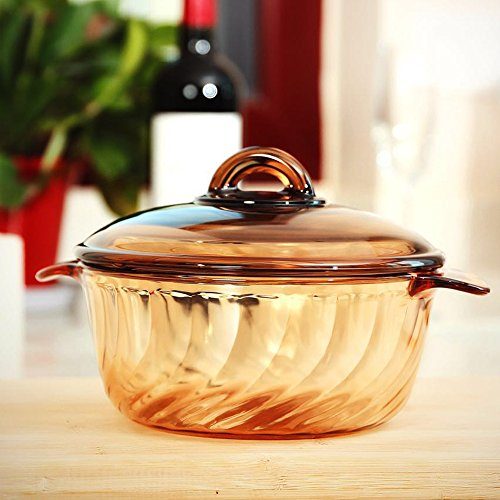 YITA MADE IN FRANCE 2.5L Round Stewpot with Glass Cover for cooking Soup, Frying, Steaming, Deep Frying, Boiling and More