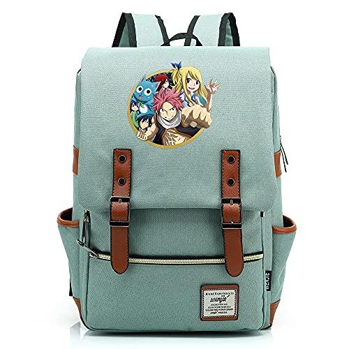 Hydxsjh Fairy Tail Mochila para Portátil De 16 Pulgadas Vintage para Portátil Anime Backpack Cartoon Animation,C