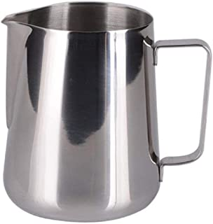 THW Stainless Steel Milk Frothing Latte Pourer Cappuccino Coffee Jug, 300 ML