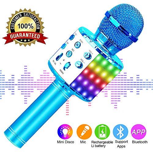 SunTop Micrófono Karaoke Bluetooth, Microfono Inalámbrico Karaoke,...