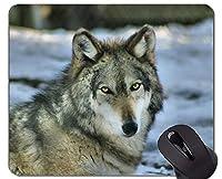 ユニークなカスタムマウスパッドマウスパッド、オオカミ動物野生動物オフィスマウスパッド