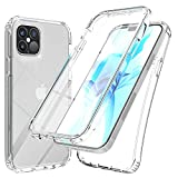 Teayoha - Custodia per Apple iPhone 12 / iPhone 12 Pro da 6,1', con pellicola protettiva integrata per schermo, resistente e trasparente, trasparente