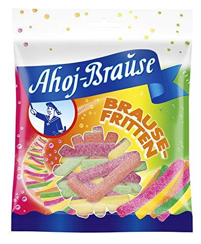 Frigeo Ahoj-Brause Fritten - Prickelnd-Saure Fruchtgummi-Pommes mit Brause Ummantelt, 16er Pack (16 x 150 g)