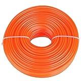 Trimmer Line Coupe-herbe à essence à fil carré en fil de nylon, 2,4 mm(50 mètres)