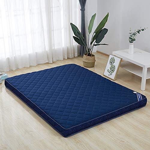 Great Price! LQ&XL Futon Mattress,Japanese Thicken Sleeping Pad,Non-Slip Tatami Cushion Floor Mat Foldable Bed Mattress,Student Dormitory Mattress Pad for Adult and Kids,Blue,150190cm(59x75inch)