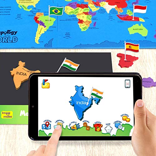 Imagimake Mapology World AR - Augmented Reality Educational Toy and Interactive Learning Aid for Boys and Girls - STEAM Toys