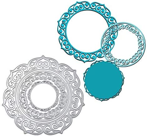 HAS Mountain - Lace Round Frame At the price Dies DIY Cutting Etched Latest item Metal Di