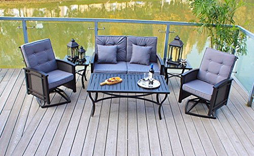 Vintage Elegance Providence 4-piece Patio Conversation Set, with Uv-protection, Will Fit in Nicely with the Surrounding Decor of Your Yard