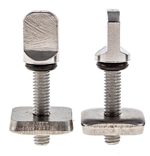 Santa Barbara Surfing SBS - No Tool Stainless Steel Fin Screw for Longboard and SUP - Choose 2 or 3 Pack