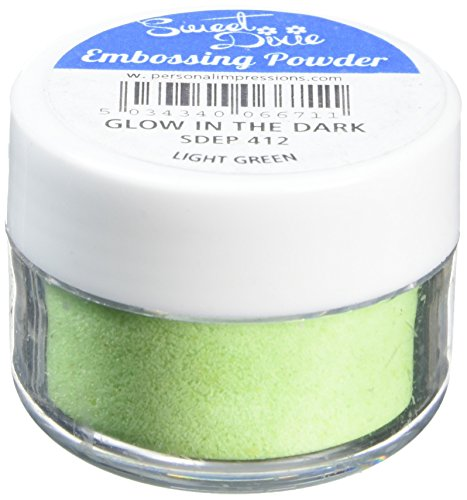 Sweet Dixie Embossing Poeder Glow in the Dark-Light Green, Synthetisch materiaal, 4 x 4 x 3 cm