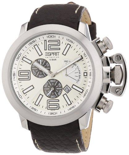 Esprit Herren-Armbanduhr Chronograph Leder EL900211002