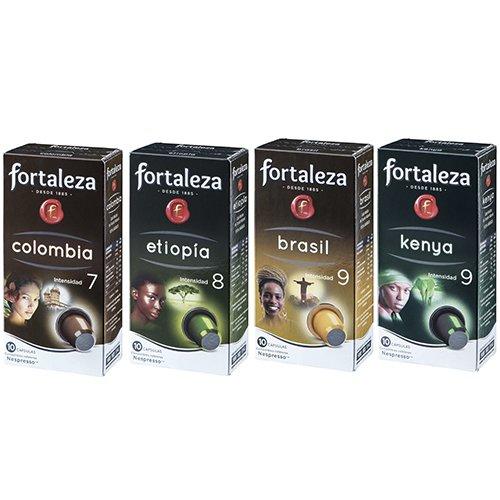 Café FORTALEZA - Surtido de Cápsulas de Café Orígenes Compatibles con Nespresso - Pack 20 x 10 - Total 200 cápsulas