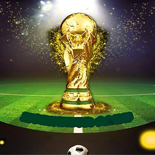 Rishx-lamp 2018 réplica de la Copa del Mundo, Trofeo fútbol, Artes de la Resina, Juego, Premio, el Ganador Honor, Regalo de cumpleaños, el Bling, Altura 36 cm,Solid core-36cm