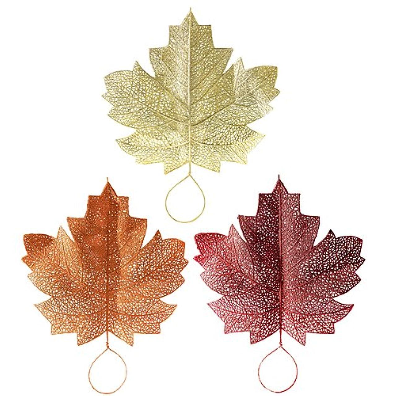 Glitter Leaves, 3 Pack