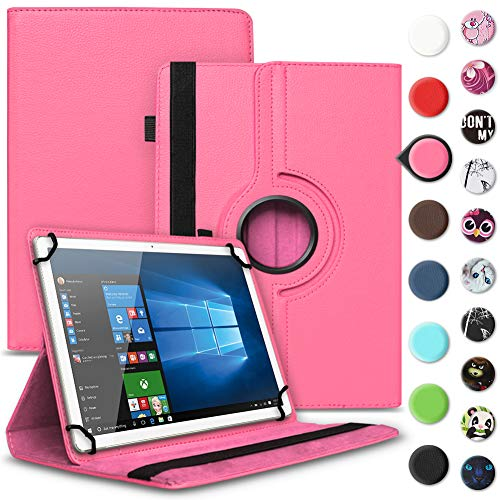 UC-Express Tablet Schutzhülle kompatibel für Archos 70 Xenon - Oxygen Tasche aus hochwertigem Kunstleder Hülle Standfunktion 360° Drehbar Cover Universal Case, Farben:Pink