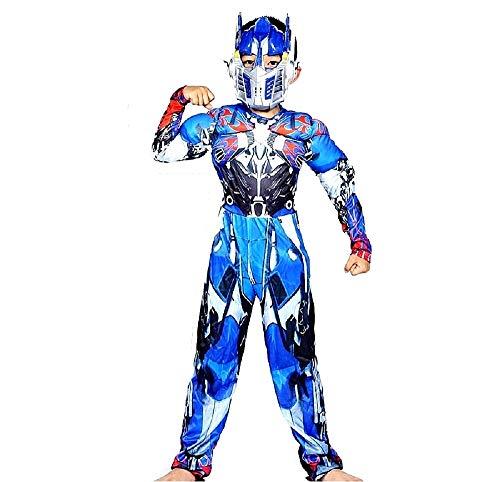 Transformers kostuum - gespierde torso - superheld en masker - kinderen - vermomming - carnaval - halloween - accessoires - maat s - 3/5 jaar - cadeau-idee voor kerstmis en verjaardag cosplay