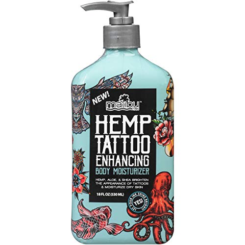 Malibu Tan Hemp Tattoo Enhancing Body Moisturizer, 18 fl. oz....