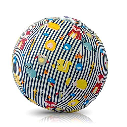 Abanico BB-17602 - BubaBloon Ballonhülle Animals, kinderfreundliche, textile Ballonhülle aus hochwertiger Popeline Baumwolle, inklusive 3 Latex Luftballons
